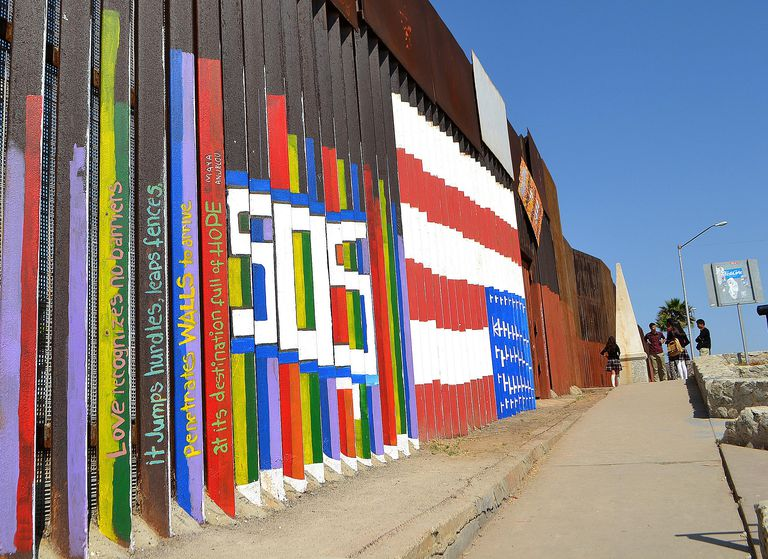 border fence between Mexico and the U.S.