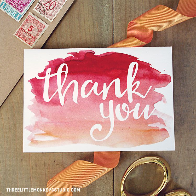 23 free printable thank you cards you can personalize printable thank you card from the little monkeys studio negle Gallery