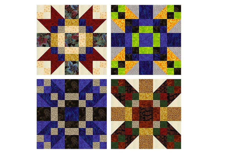 Game Cocks Patchwork Quilt Blocks