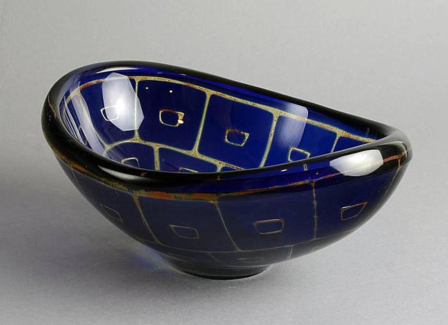 Ravenna Bowl by Sven Palmqvist for Orrefors, Sweden, 1960