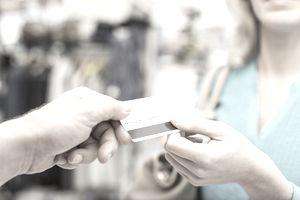Handing over a card
