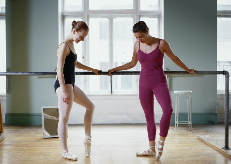 Two Ballet Dancers in a Dance Studio
