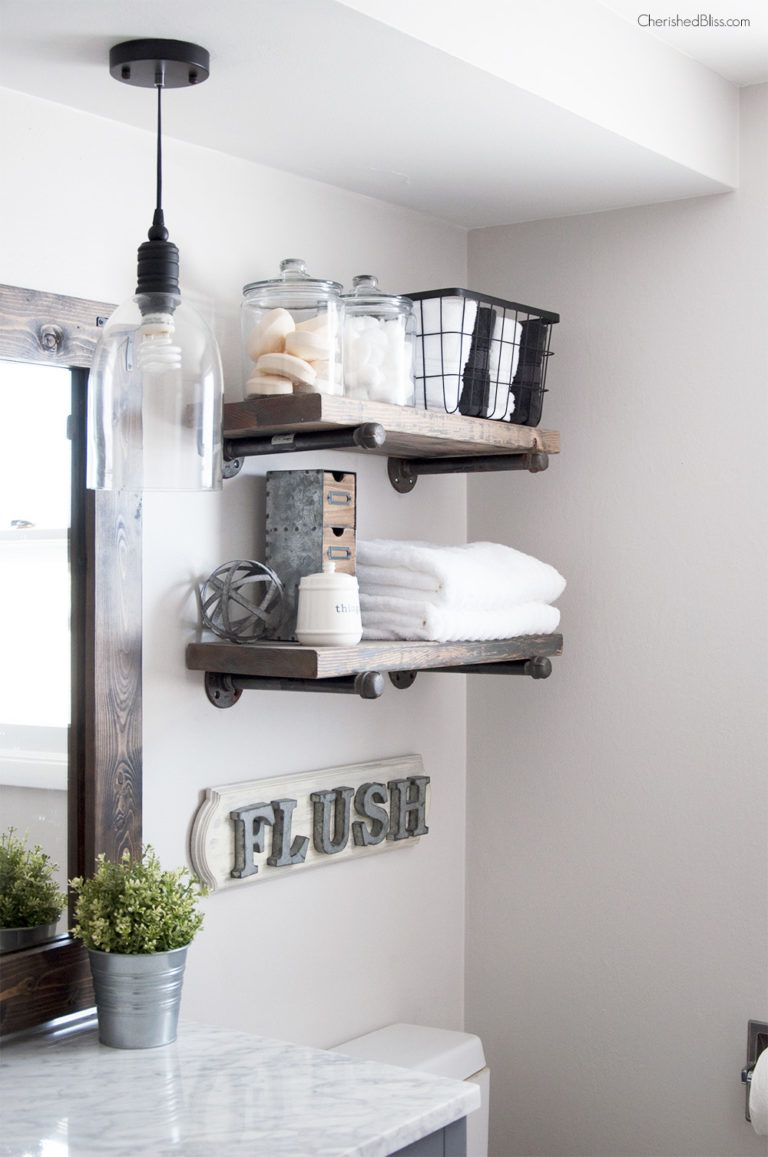 small towel bathroom a ideas hanging shelf shelving with