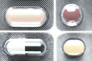 Various pills in blister packs