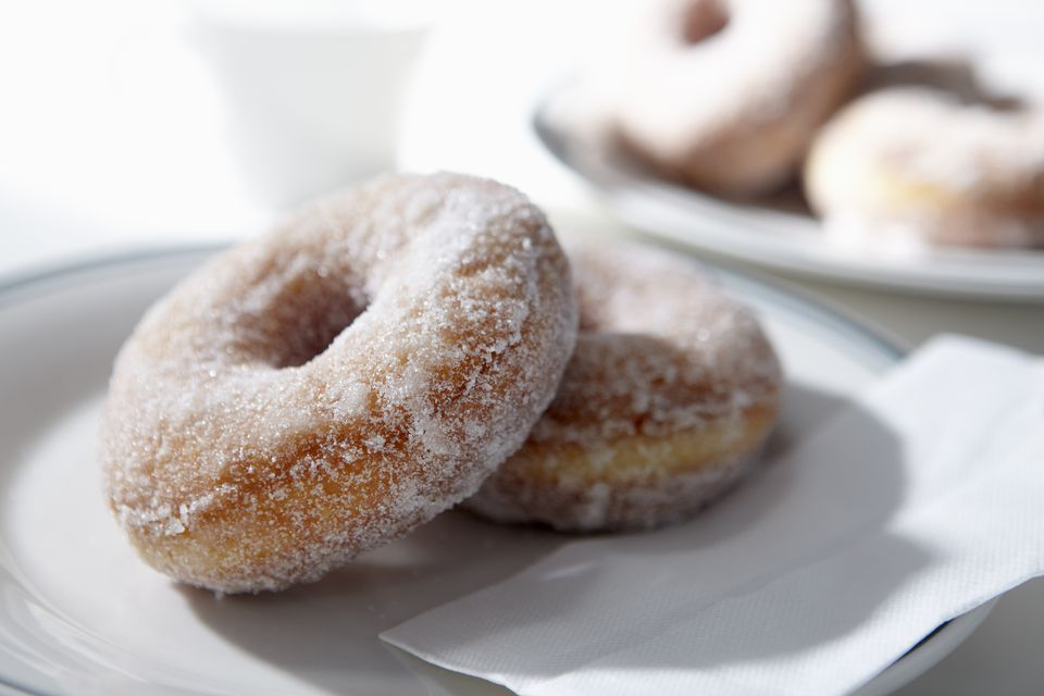 Sugar coated donuts