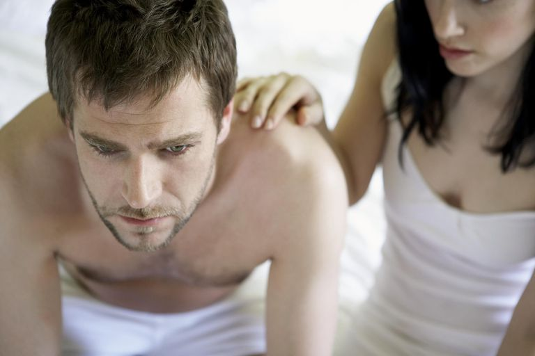 man and women in the bedroom contemplating the sexual side effect of antidepressants