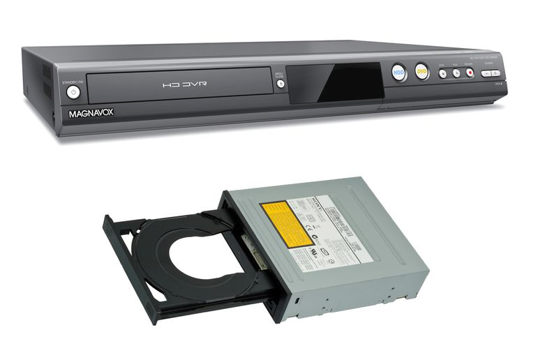 Magnavox DVD Recorder (top) - Sony Internal PC Writer (bottom)