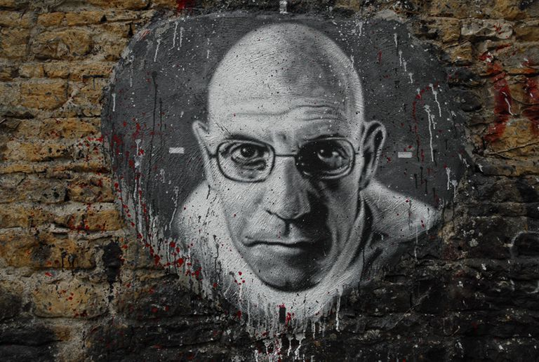 Painting of Michel Foucault