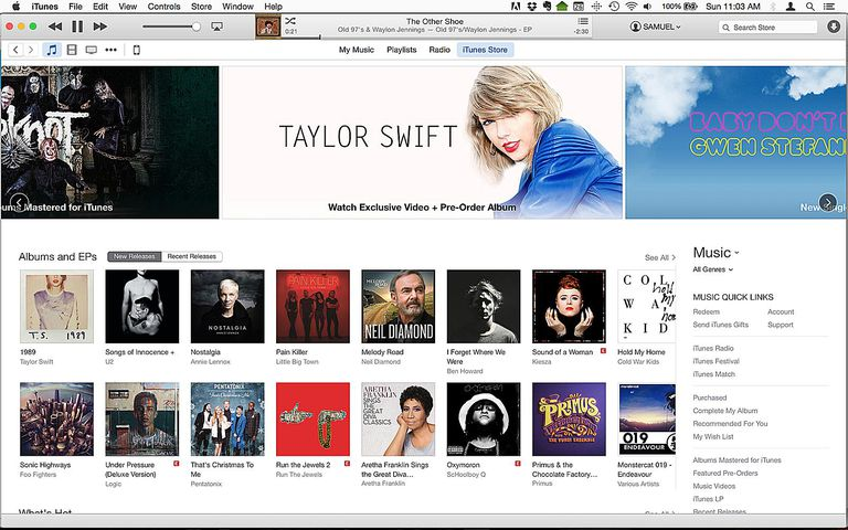 buying music at itunes, step 1