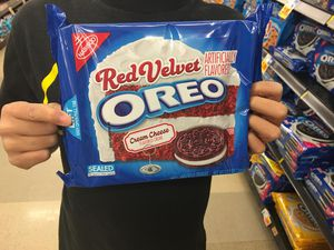A bag of Red Velvet Oreo's.