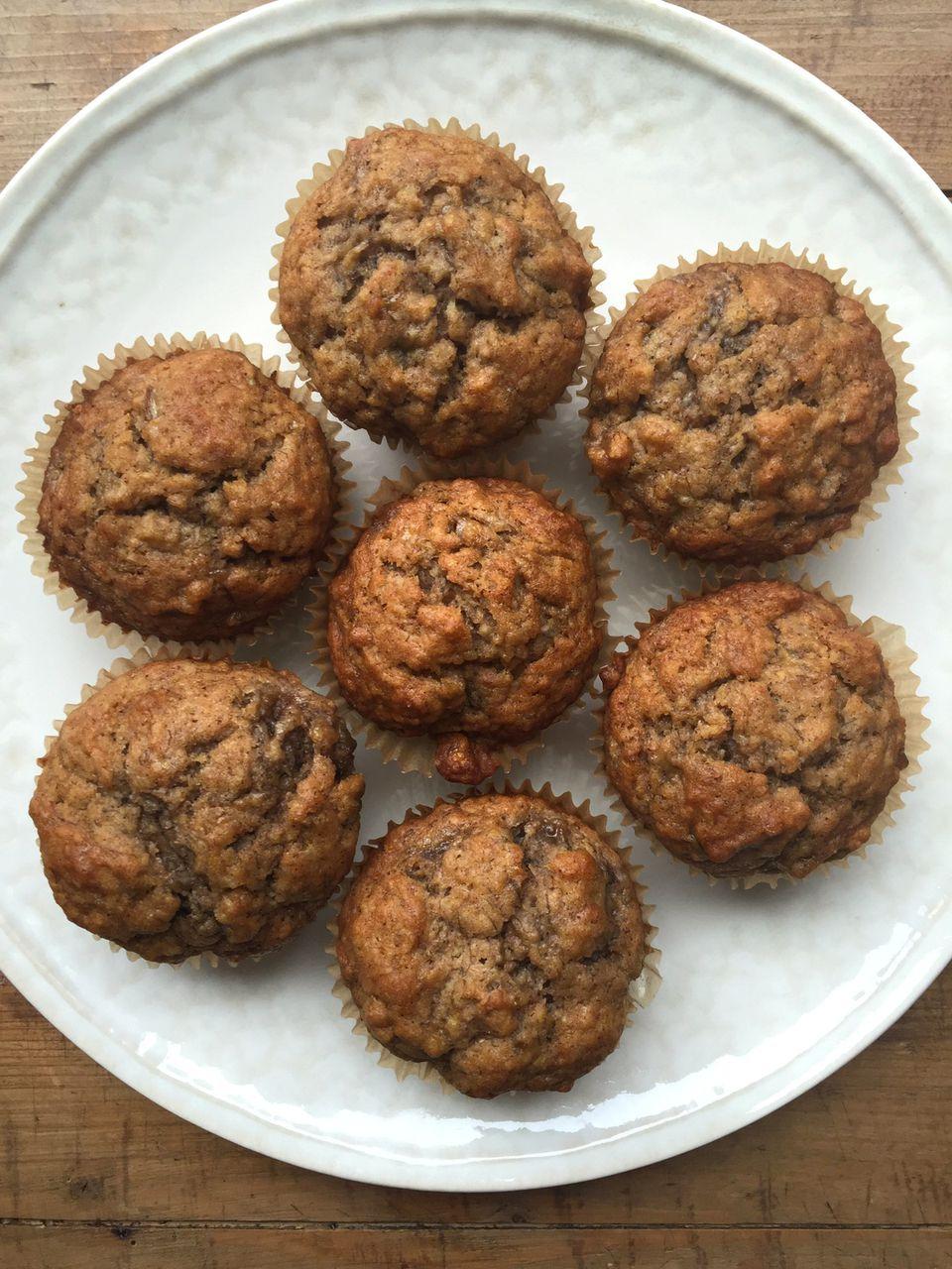 Coconut Oil Banana Muffins