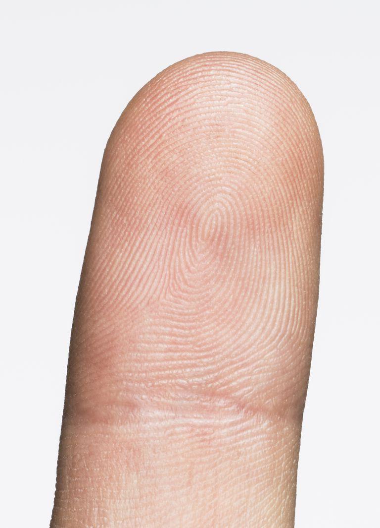 close up of finger print