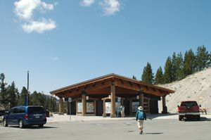 Information displays and restrooms at the Mt. Rose Trailhead.