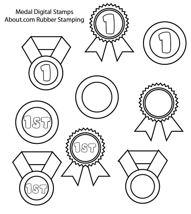 Medal digital stamps