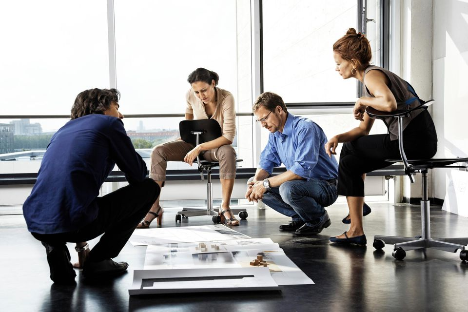 Architects working on a project