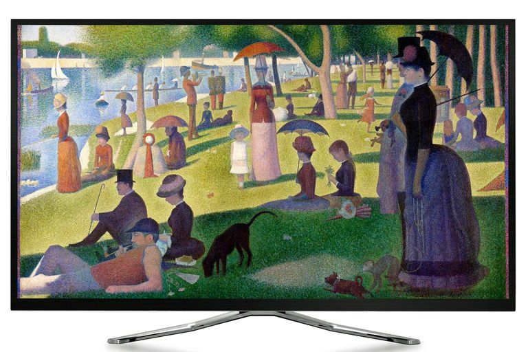 Artcast Example - Painting Displayed On TV