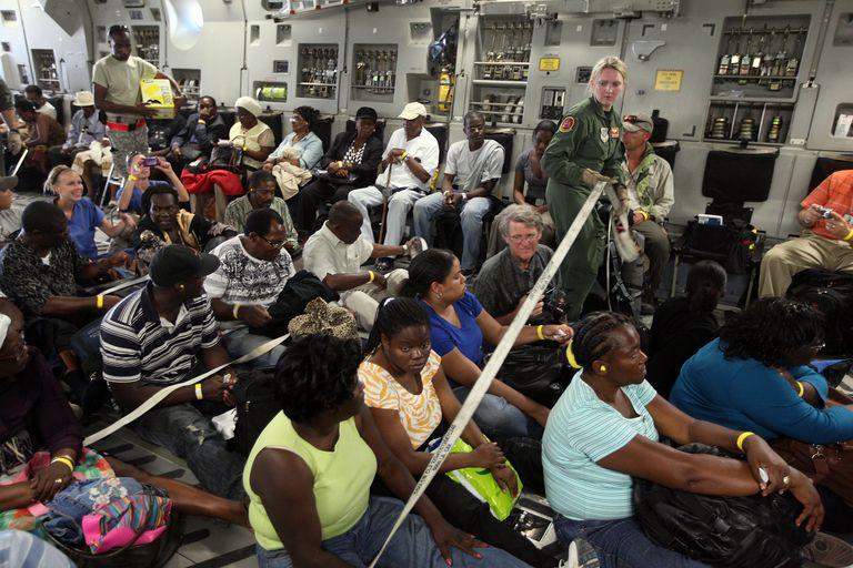 Americans Evacuated From Haiti Return To The U.S.