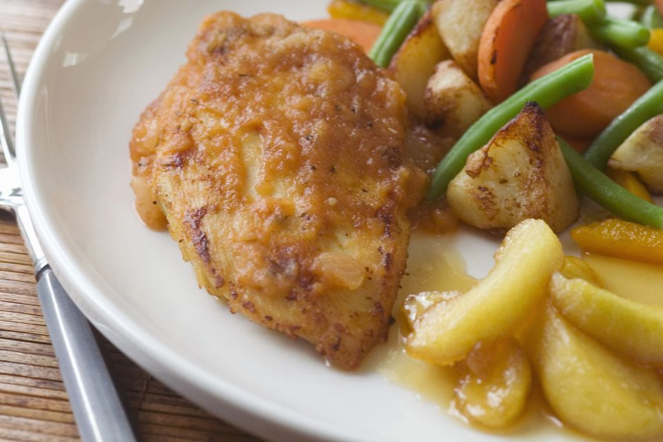 Chicken with Sliced Apples