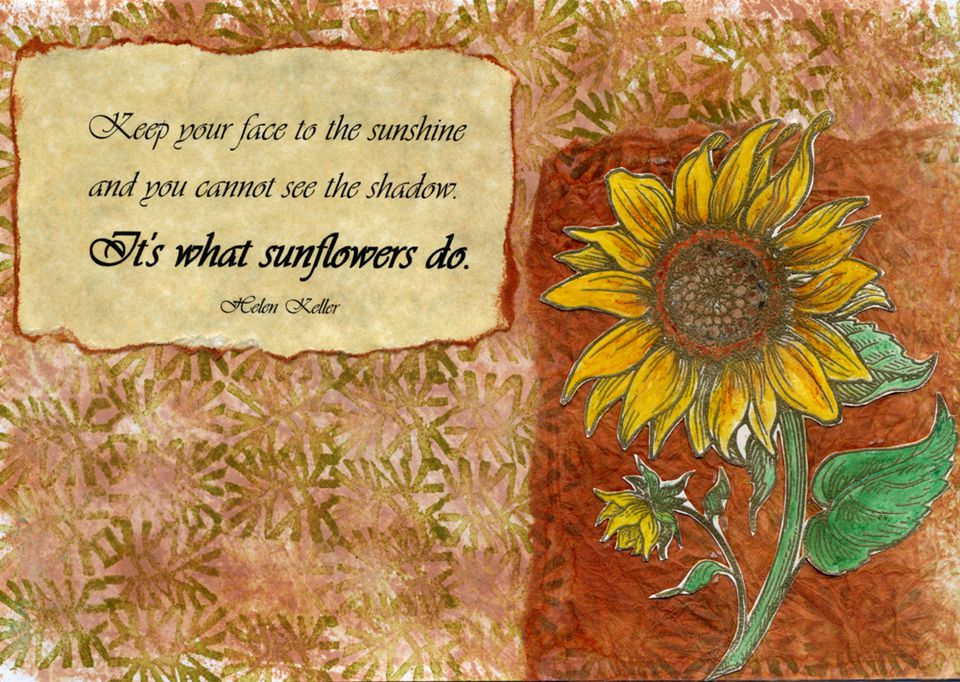 It's What Sunflowers Do - Card