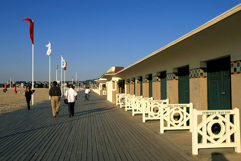 Seaside boardwalk, France