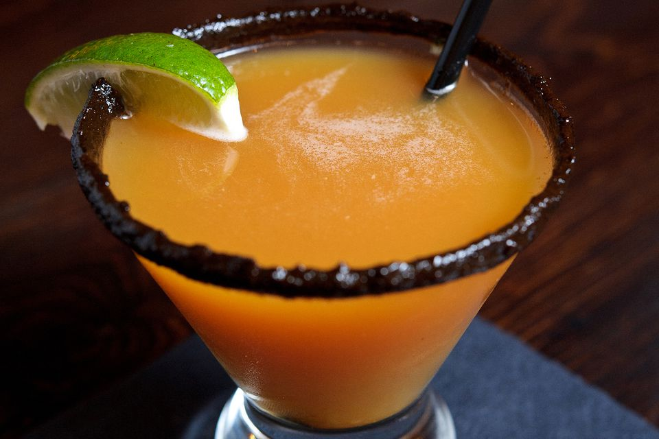 Habanero Blood Orange Margarita Cocktail from La Sandia's