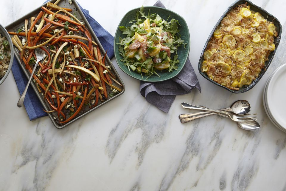 squash casserole and other sides