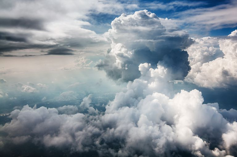 Water vapor may be an abundant gas in the atmosphere, especially close to the surface.
