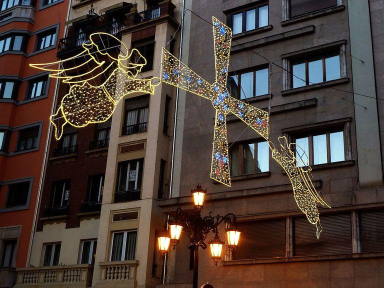 Christmas lights in Oveido, Spain.