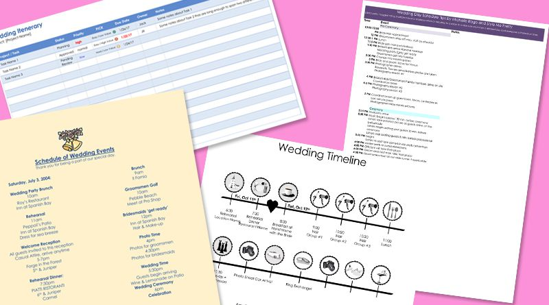 Free Wedding Itinerary Templates And Timelines - Wedding timeline template free
