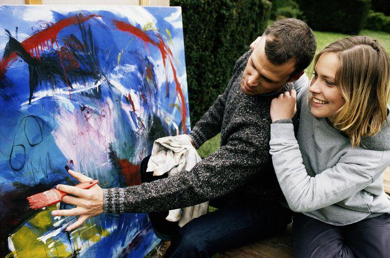 A Couple Discusses Art
