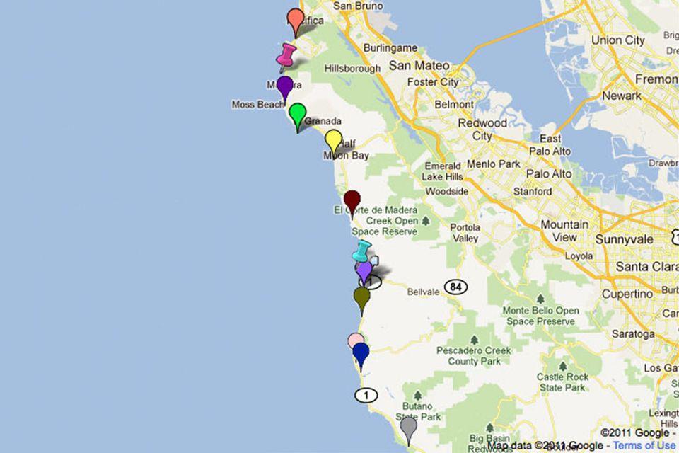 Gray Whale Cove - North Beach, Montara, CA - California