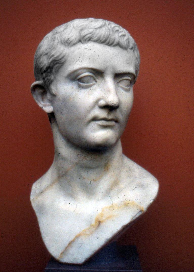 Bust of Roman emperor Tiberius