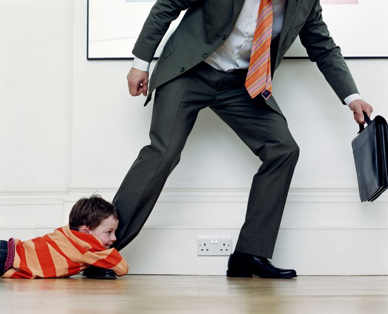 There are several things you can do to deal with a clingy child.