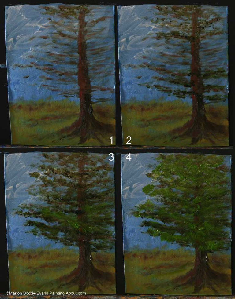 Step by Step to Creating a Realistic Tree Painting