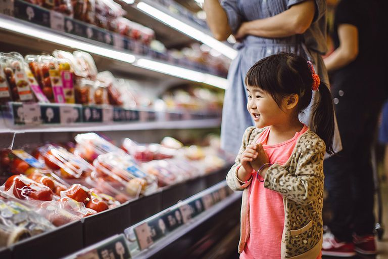 Chinese Child Shopping