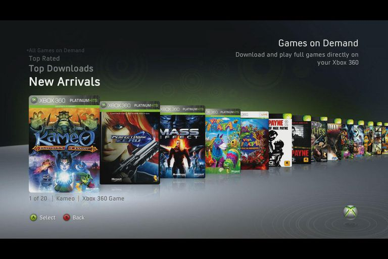 Xbox 360 Games On Demand