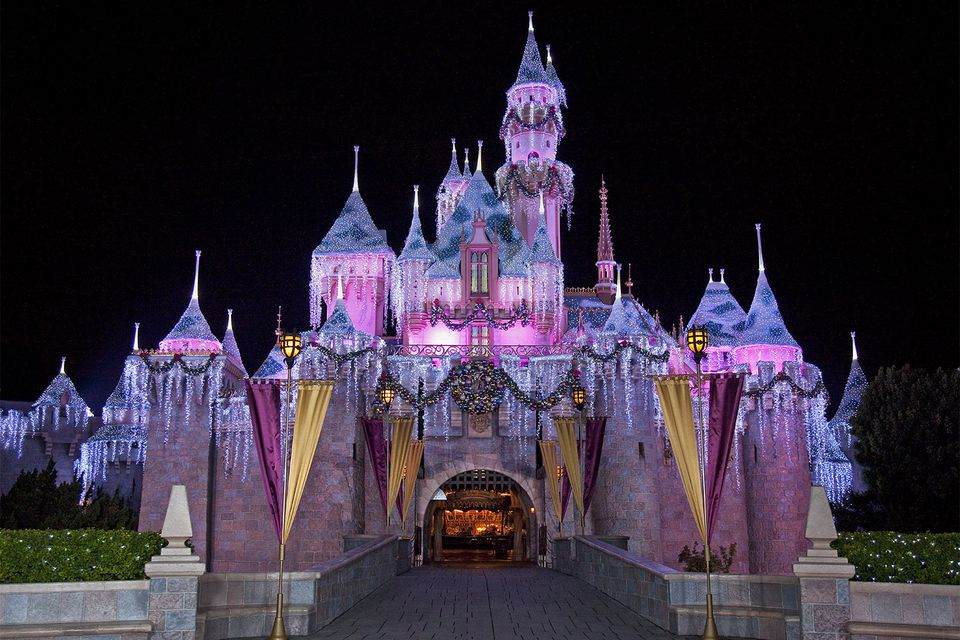 Disneyland Castle at Christmas
