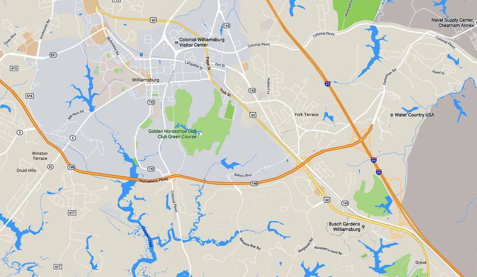 Historic Triangle Maps WilliamsburgJamestownYorktown