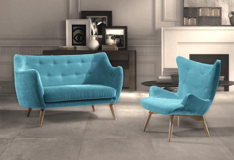 Muebles en color turquesa atrevidos y muy decorativos - Sillones vintage retro ...