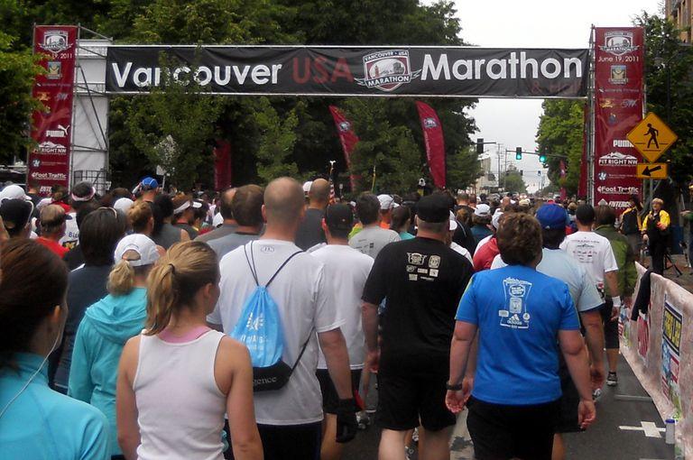 Vancouver USA Marathon Starting Line