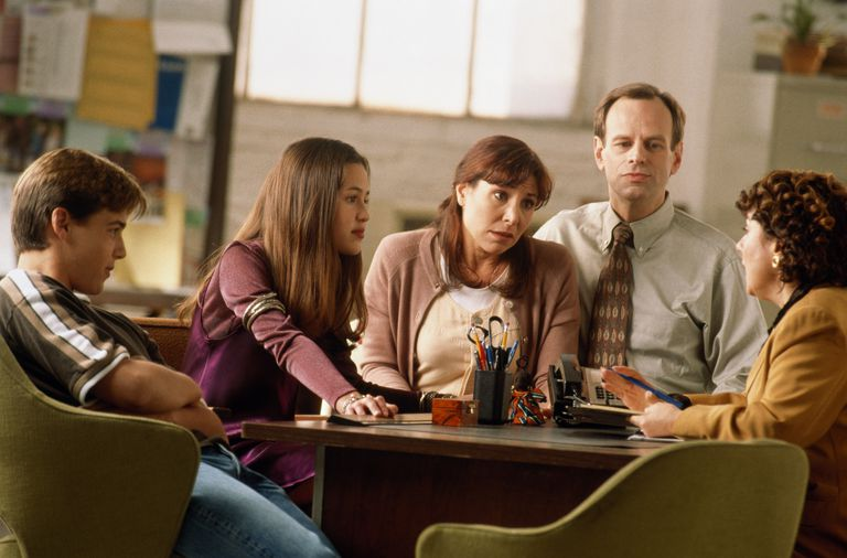 Family in counselling session