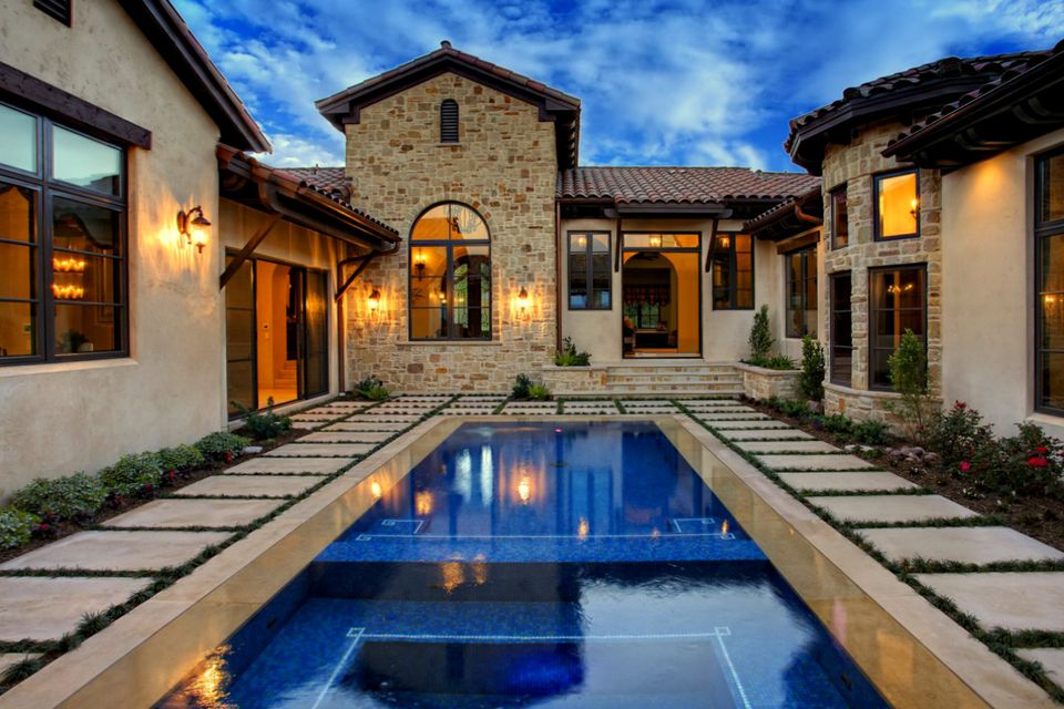 25 Beautiful Mediterranean Pool Designs