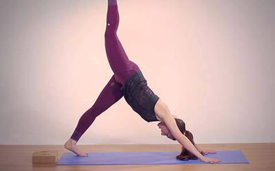 learn standing pilates exercises  footwork and legwork