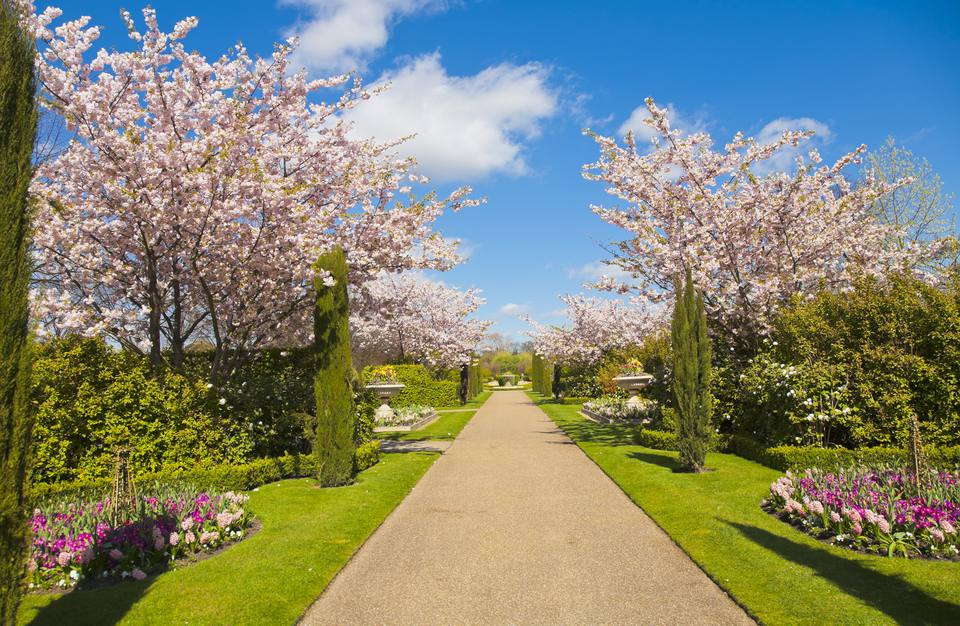Regent Park in spring, London, UK