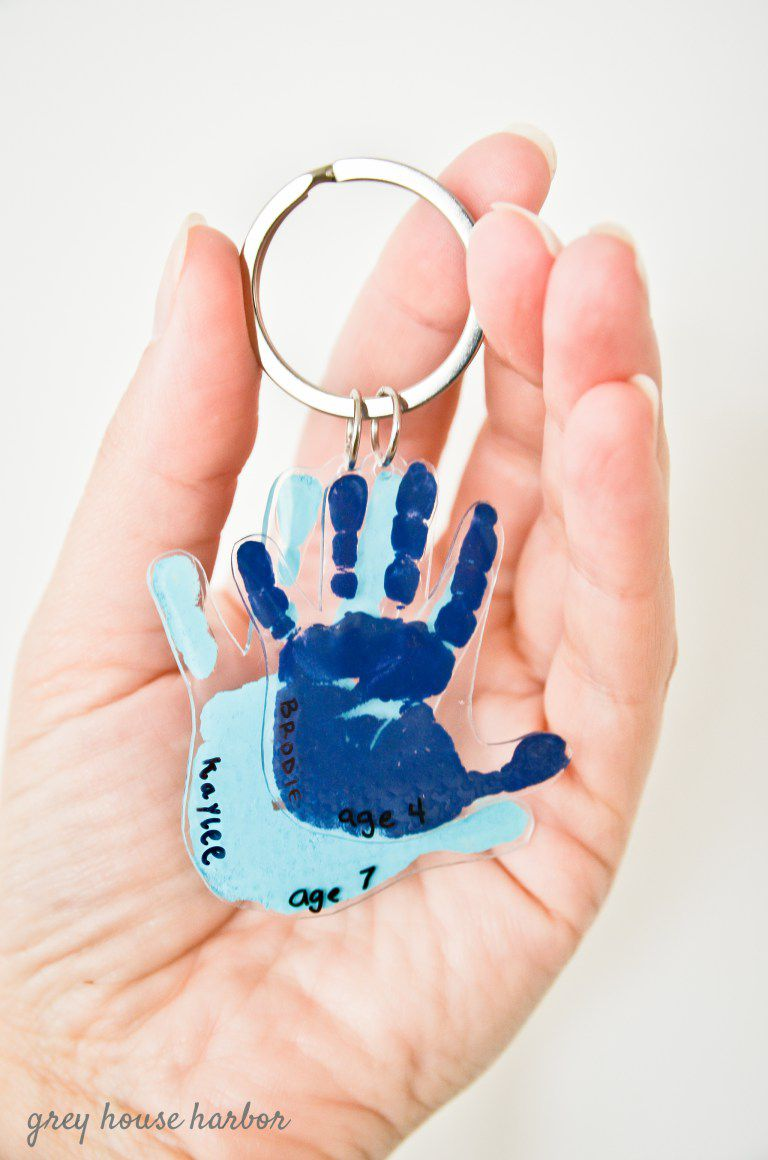 handprint keychain