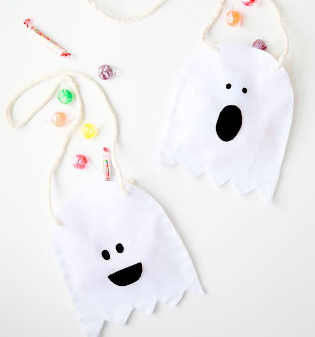 DIY Ghost Candy Bags