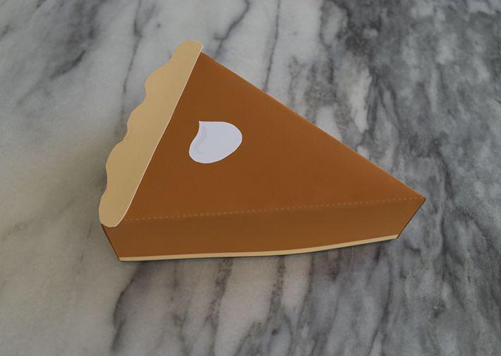 DIY Pumpkin Pie Slice Box
