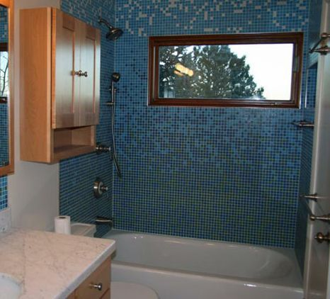 glass mosaic bathroom tile designs. mosaic tile shower: ocean blue tile. glass bathroom designs