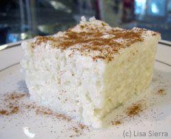 Rice Pudding Cake - Tarta de Arroz con Leche