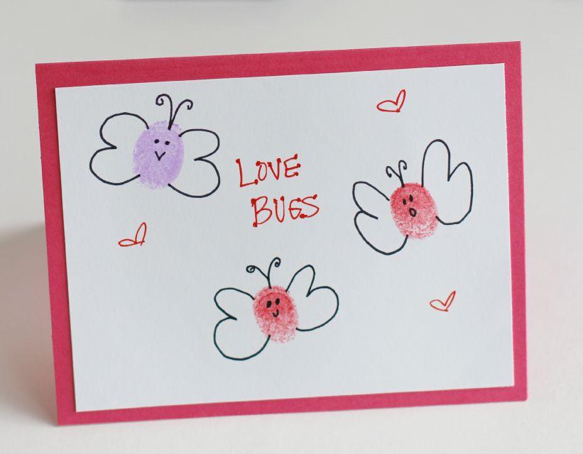 Thumbprint Love Bug Cards DIY